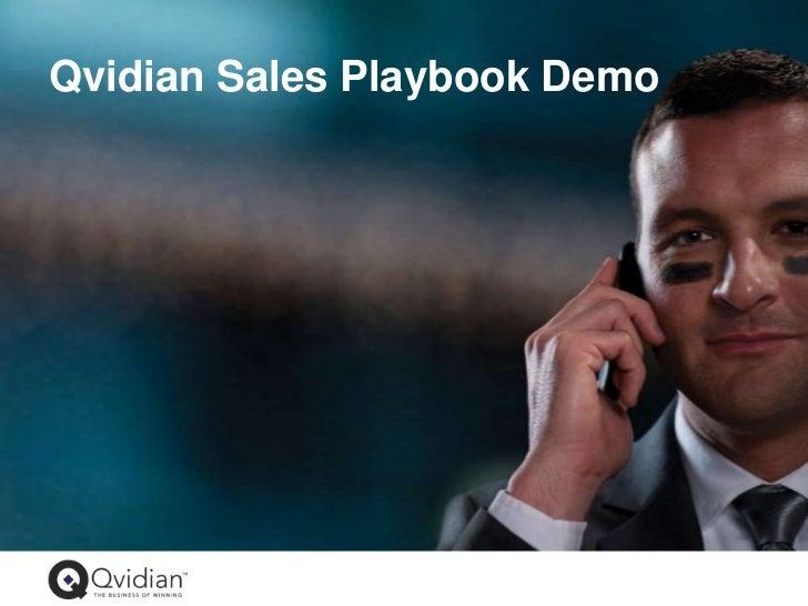 Qvidian Sales Playbook Demo<br />