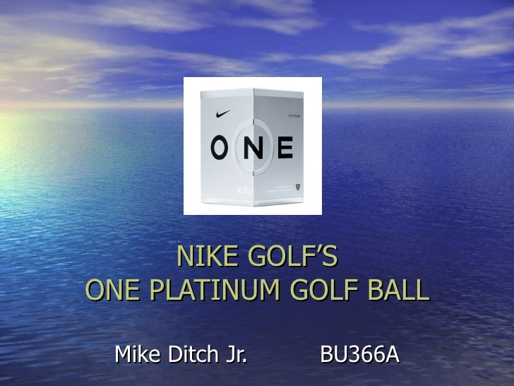 Golf Ball Sales Presentation