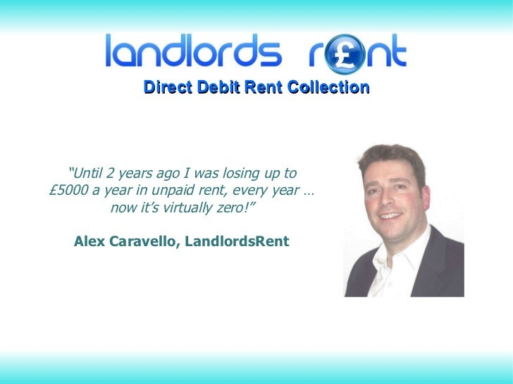""""""" Until 2 years ago I was losing up to £5000 a year in unpaid rent, every year … now it's virtually zero!"""" Alex Caravello,..."""