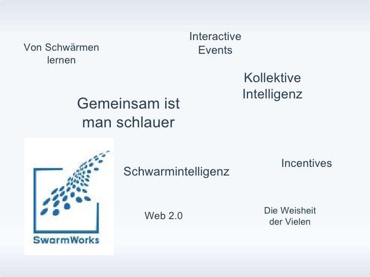 Kollektive Intelligenz Incentives Von Schwärmen lernen Gemeinsam ist man schlauer Interactive Events Die Weisheit der Viel...