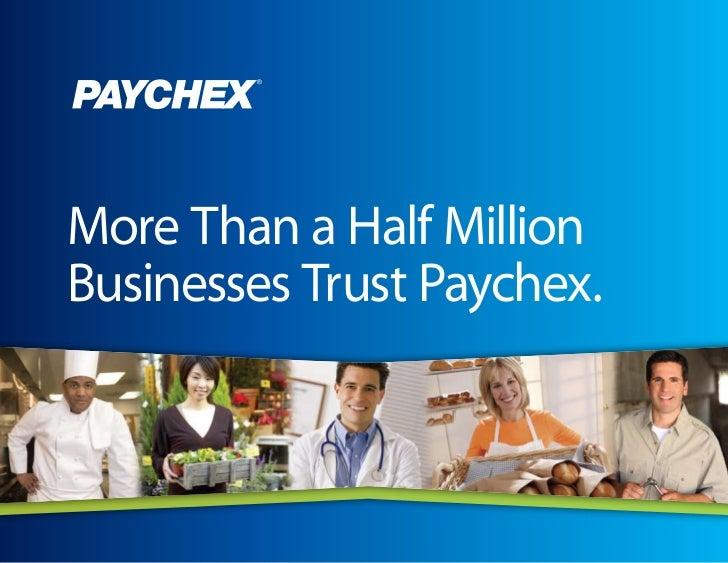 Paychex Payroll Presentation