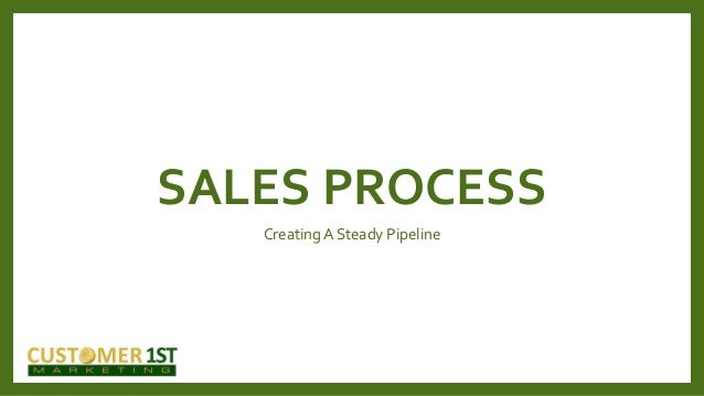 SALES PROCESS Creating A Steady Pipeline
