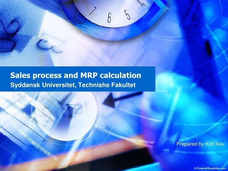 Sales Process And Mrp