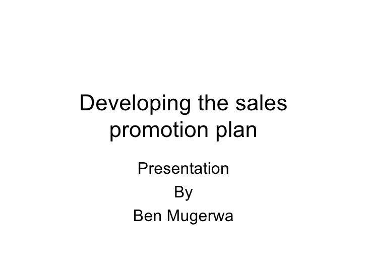 Sales promotion developing the sales promotion plan