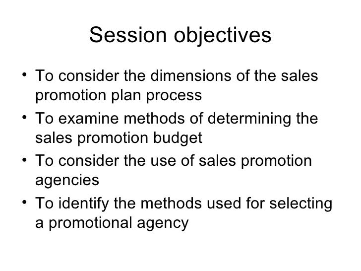 how to write a sales promotion plan