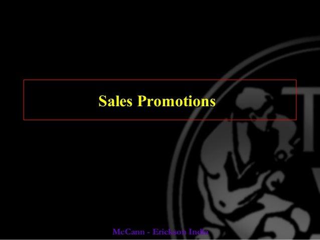 Sales promotion analysis