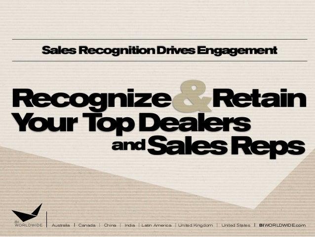 Sales Recognition Drives Engagement