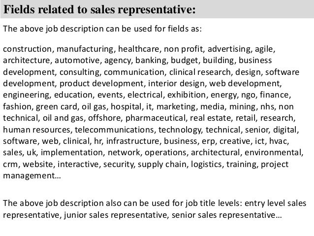 salesman job duties Template