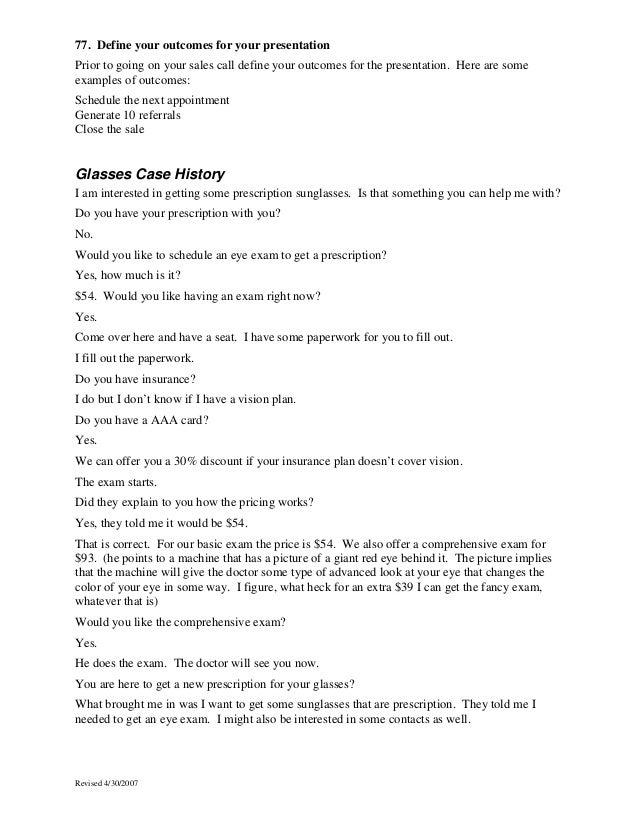 sales script