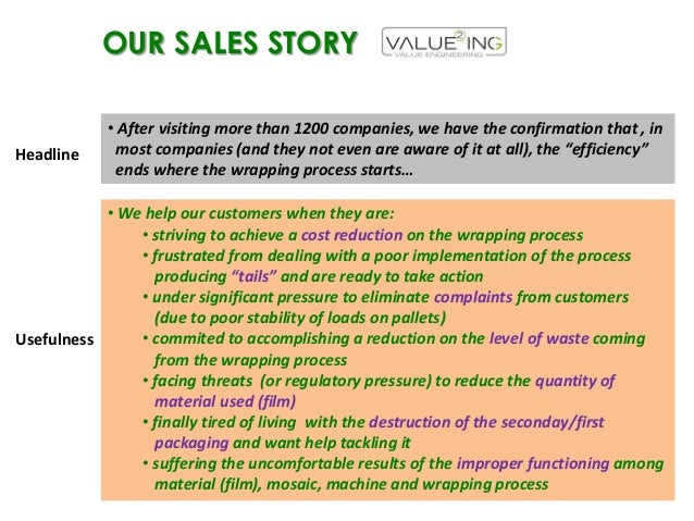 Valueing's Sales story