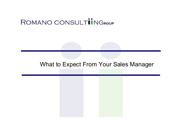 What to Expect From Your Sales Manager