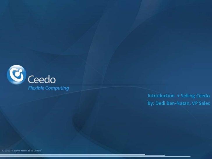 Ceedo Sales training