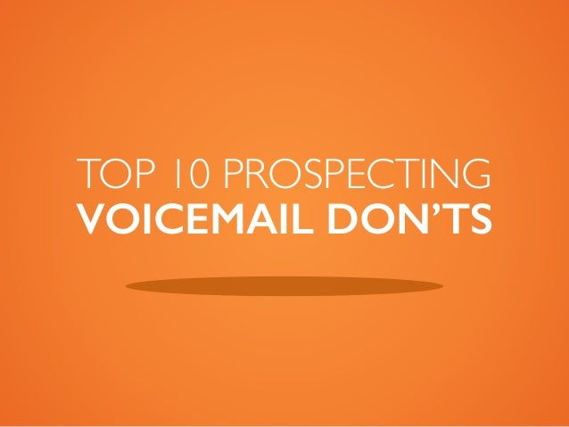Sales Voicemail Don'ts