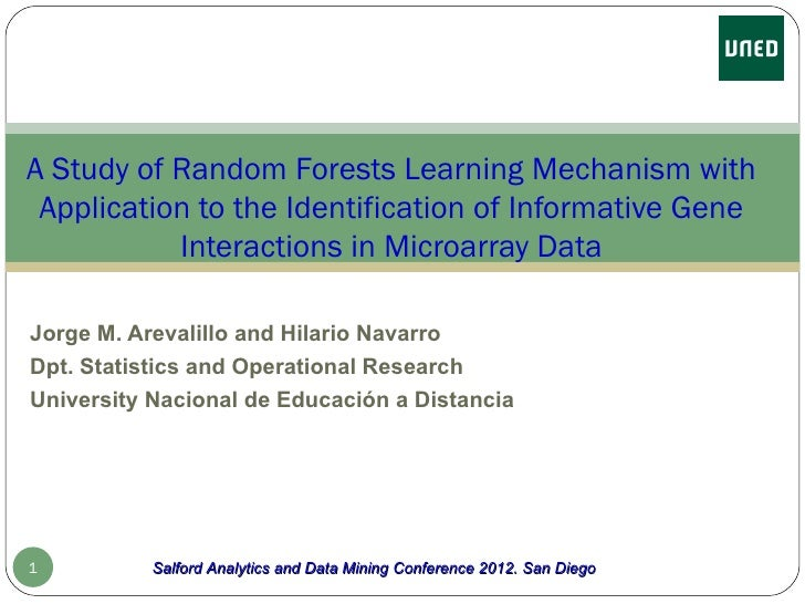 A Study of RandomForests Learning Mechanism with Application to the Identification of Informative Gene Interactions in Microarray Data