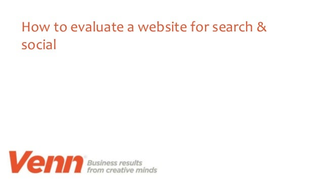 How to evaluate a website for search & social