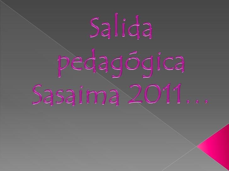 Salida pedagógica Sasaima 2011…<br />