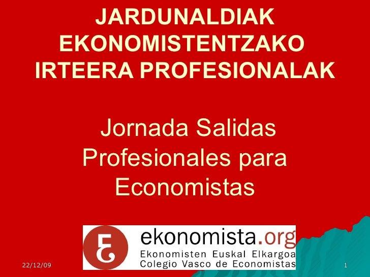 Salidas Profesionales para Ekonomistas