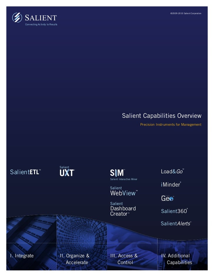 ©2009-2010 Salient Corporation       Connecting Activity to Results                                                       ...