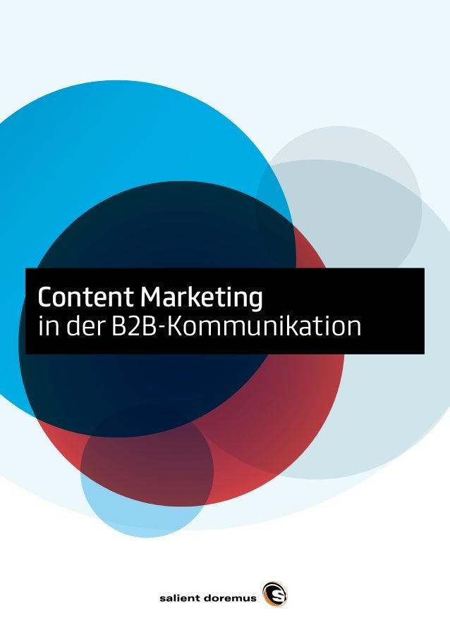 Content Marketingin der B2B-KommunikationContent Marketingin der B2B-Kommunikation