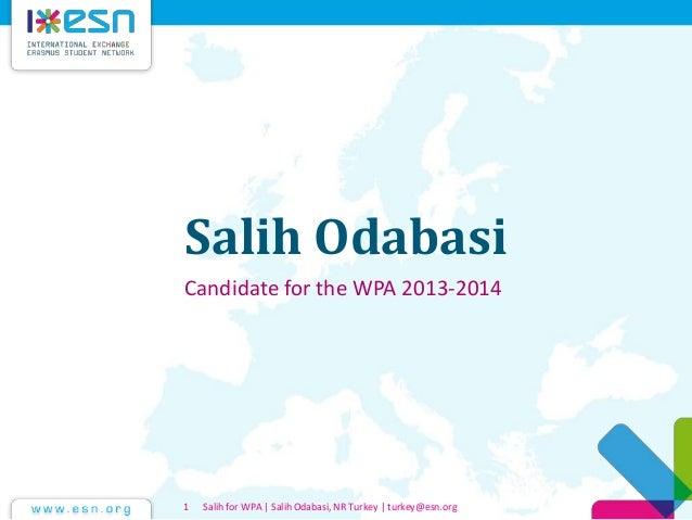Salih wpa candidacy