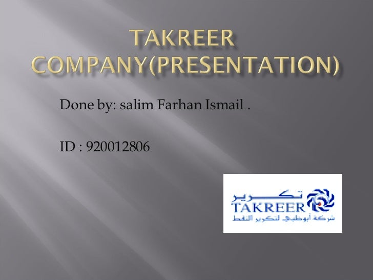 Done by: salim Farhan Ismail . ID : 920012806