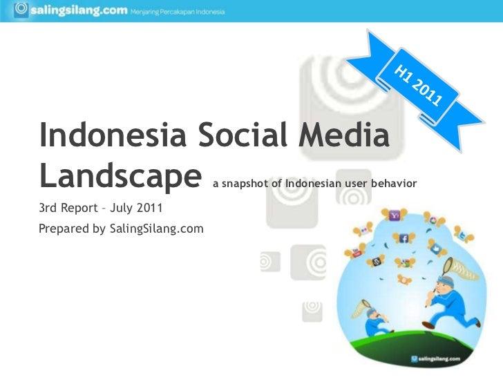 H1 2011<br />Indonesia Social Media Landscape a snapshot of Indonesian user behavior<br />3rd Report – July 2011<br />Prep...