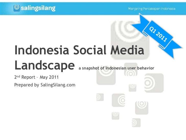 Q1 2011<br />Indonesia Social Media Landscape a snapshot of Indonesian user behavior<br />2nd Report – May 2011<br />Prepa...