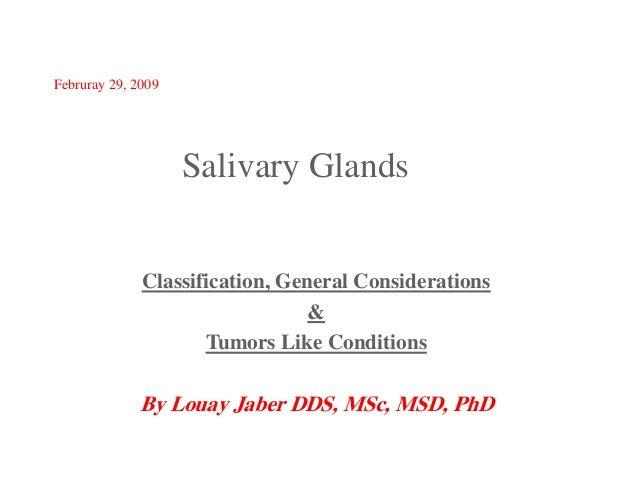 Salivary gland pathoology 1