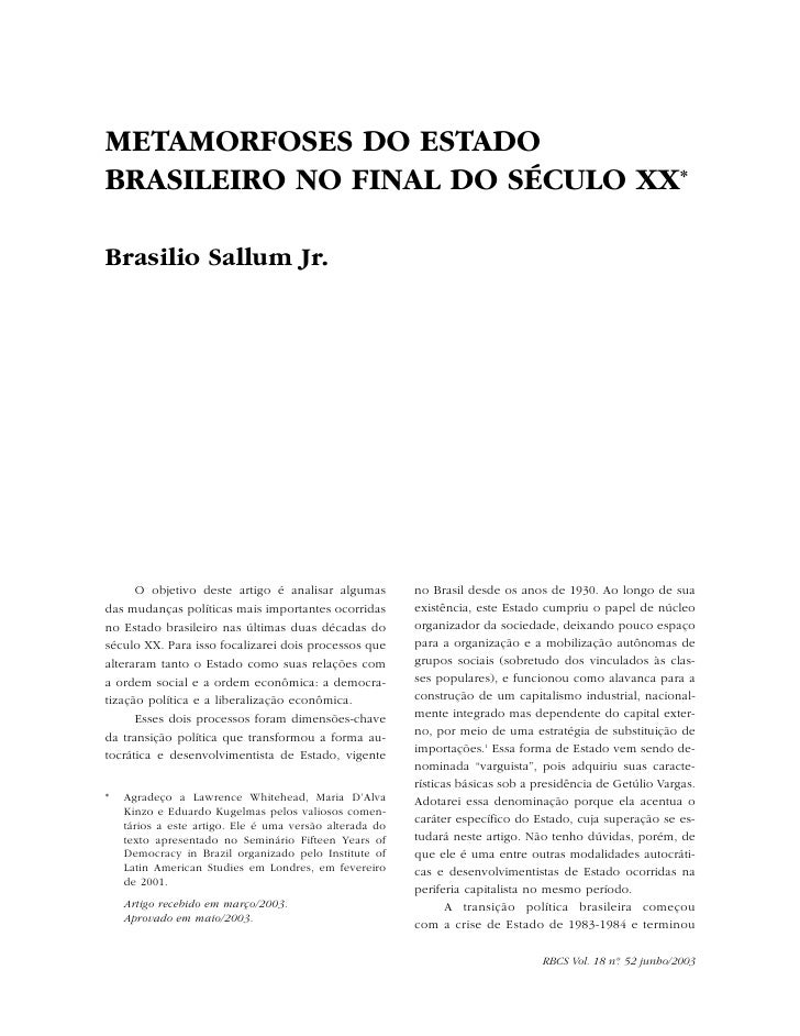 Sallum metamorfoses do estado