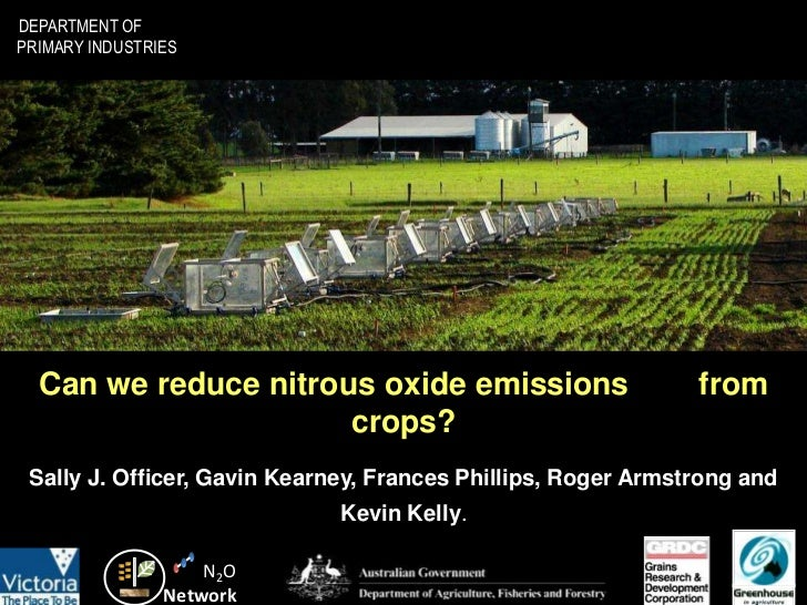 DEPARTMENT OFPRIMARY INDUSTRIES  Can we reduce nitrous oxide emissions                        from                      cr...