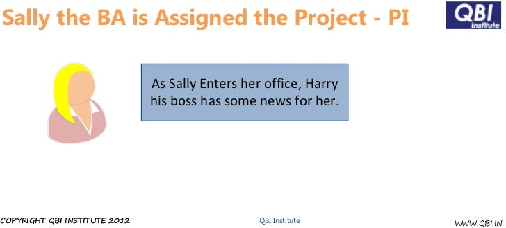 Sally the BA is Assigned the Project - PI                               As Sally Enters her office, Harry                 ...