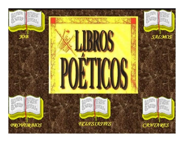 CURSO DE LIBROS POETICOSINSTRUCTOR: FRANK CATAÑO