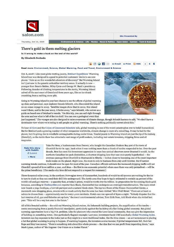 Salon - October 2008 - UBS Greenhouse Index - ilija murisic