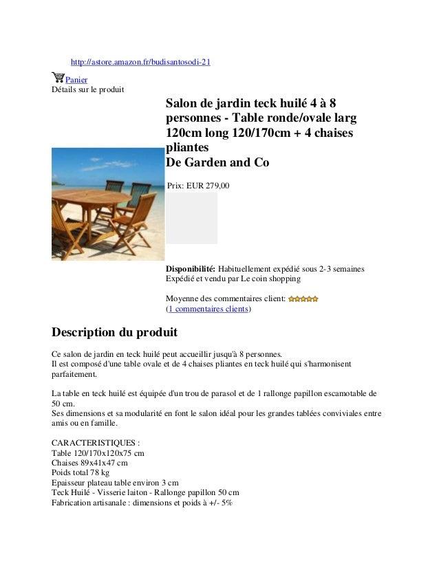 http://astore.amazon.fr/budisantosodi-21PanierDétails sur le produitSalon de jardin teck huilé 4 à 8personnes - Table rond...