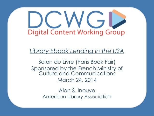Presentation Files from Salon du Livre