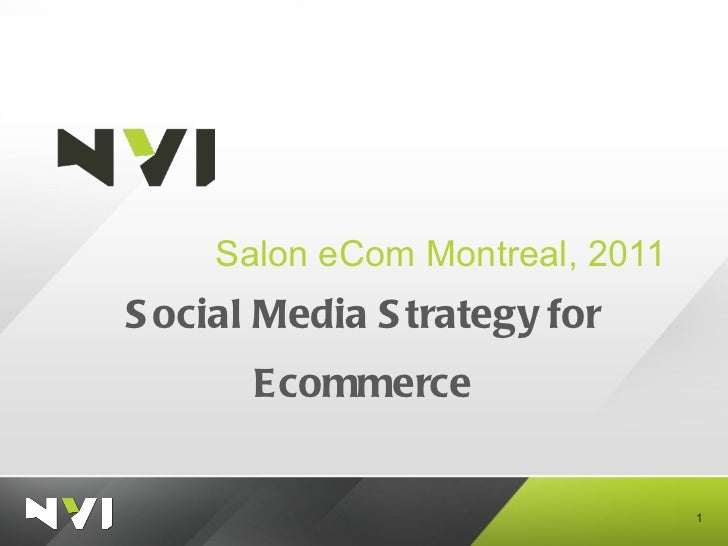 Social Media Strategy for Ecommerce