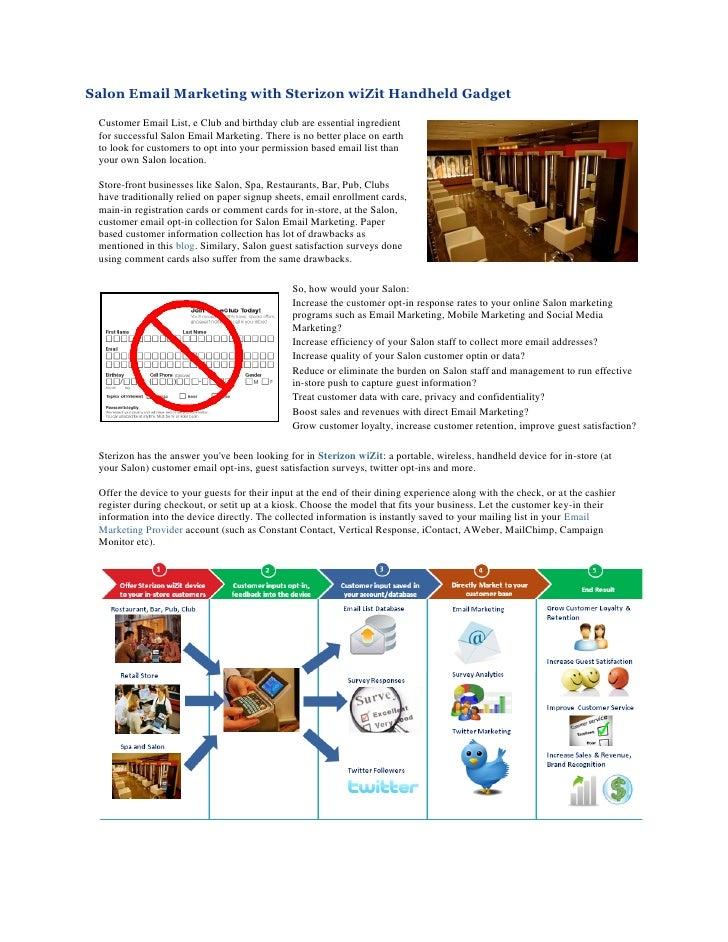 Salon Email Marketing With Sterizon wiZit Handheld Gadget