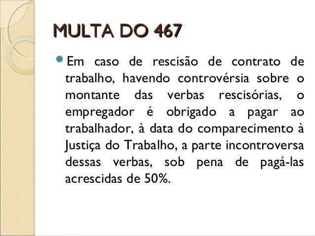 Multa artigo 467 clt