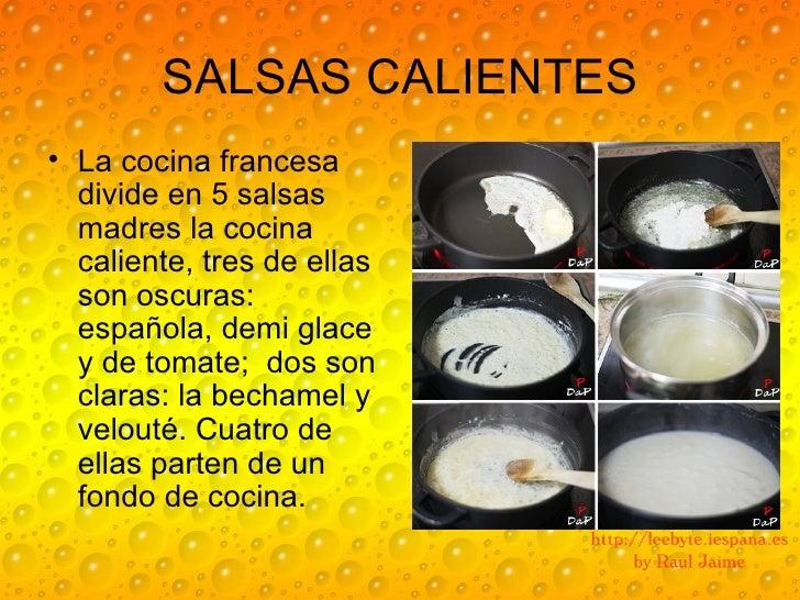 Salsas madres y derivadas for Que es la cocina francesa