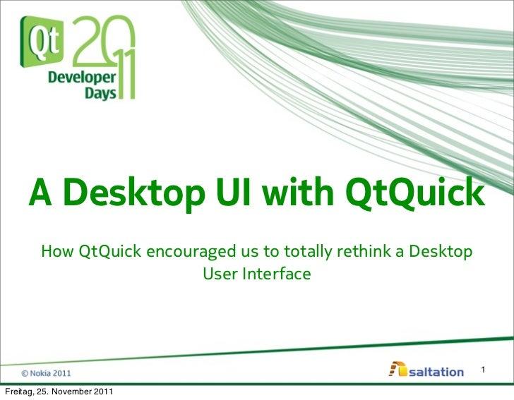 A Desktop UI with QtQuick