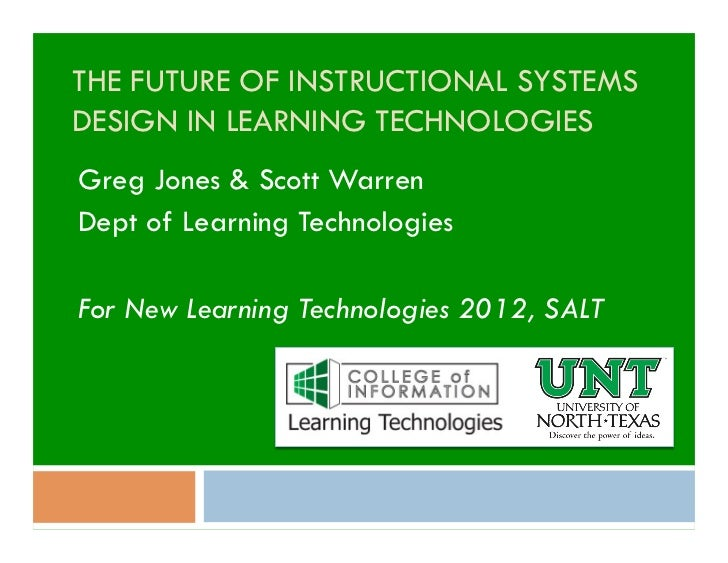 The Future of Instructional Systems Design in Learning Technologies