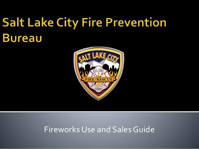 Fireworks Use and Sales Guide