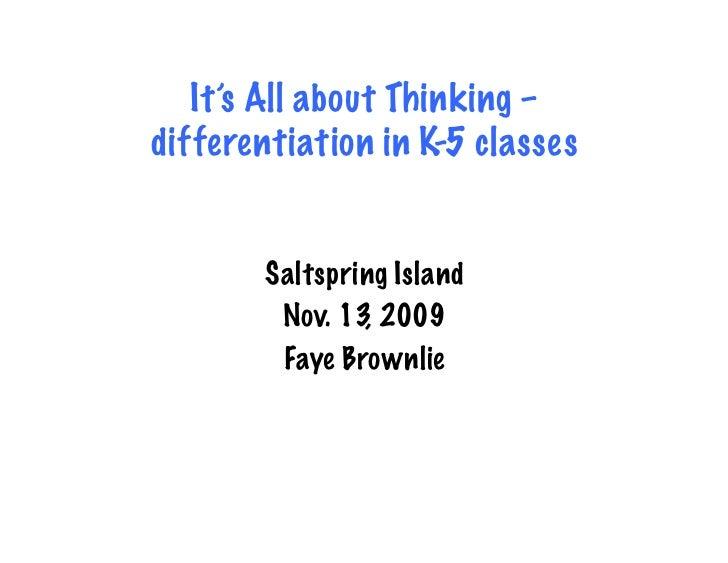 Saltspring.K 5.Differentiation