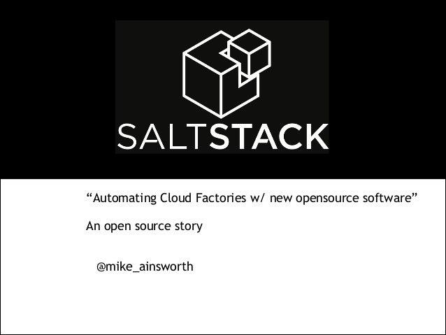 SaltStack - An open source software story