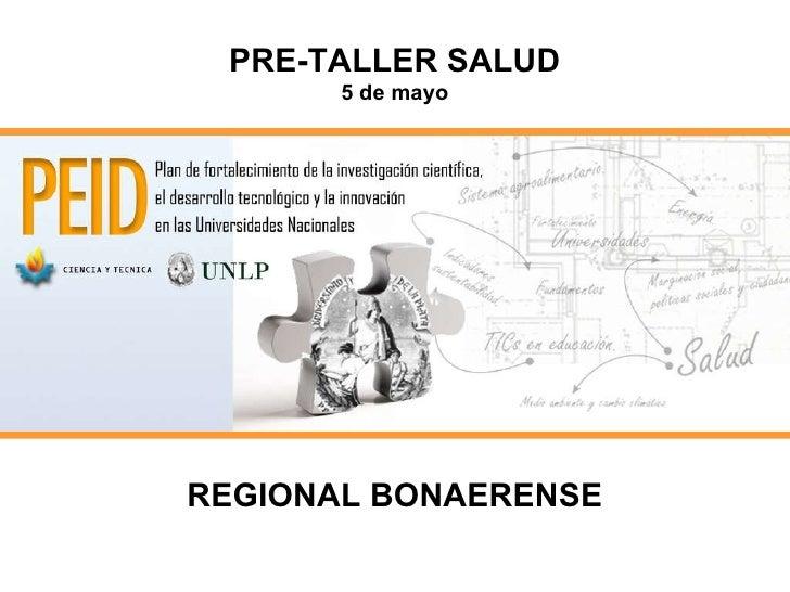 PRE-TALLER SALUD 5 de mayo REGIONAL BONAERENSE