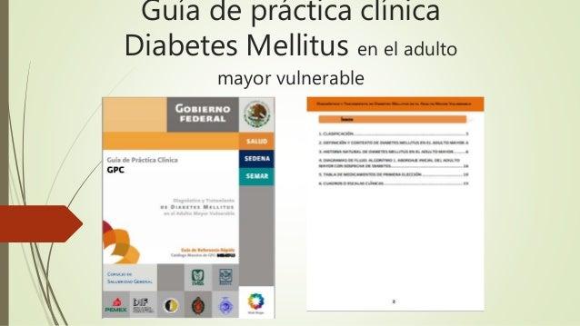 Guía de práctica clínica Diabetes Mellitus en el adulto mayor vulnerable