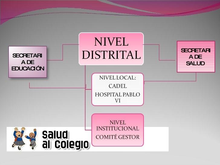 Salud Al Colegio.Comité Gestor