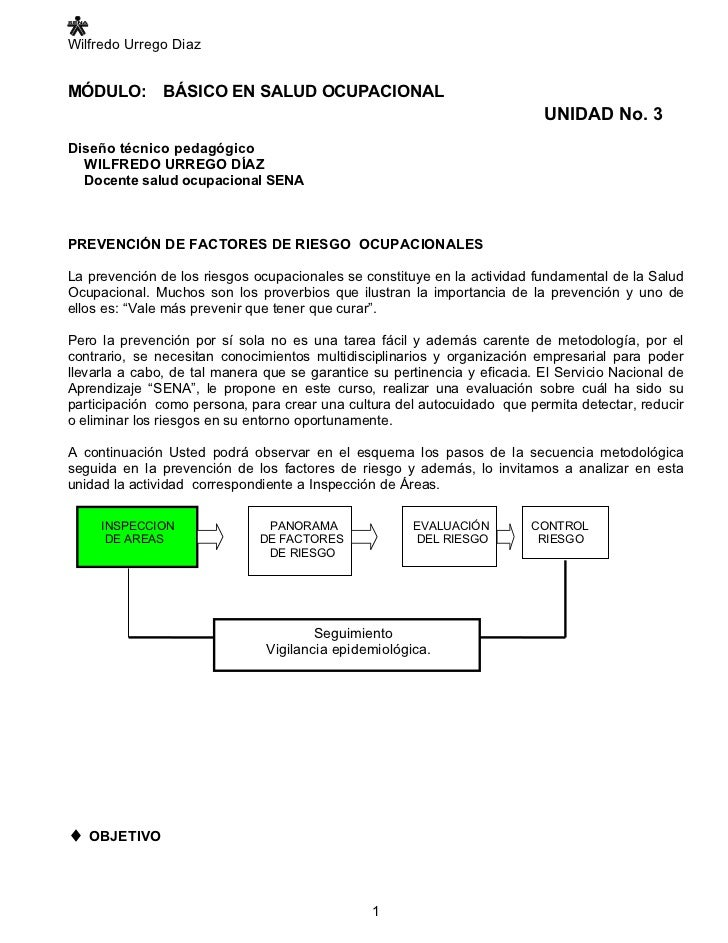 Wilfredo Urrego Diaz   MÓDULO:        BÁSICO EN SALUD OCUPACIONAL                                                         ...