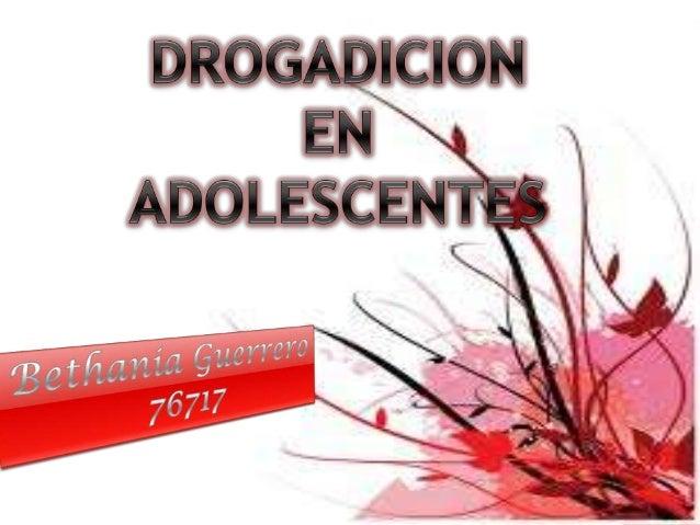 Los trastornos relacionados con las drogas en la adolescencia están causados por múltiples factores, incluyendo los siguie...