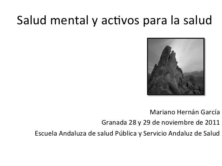 Salud mental y activos para la salud